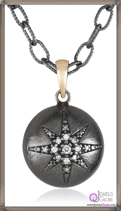 Mizuki-14Ktshadow-Silver-Chain-Charm-Star-Ball-Diamond-Pendant-Necklace Best Mizuki Jewelry Pieces on The Market