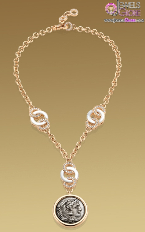 Monete-necklace-in-18-kt-pink-gold-with-mother-of-pearl Top 20 Pearl Gold Necklace Designs