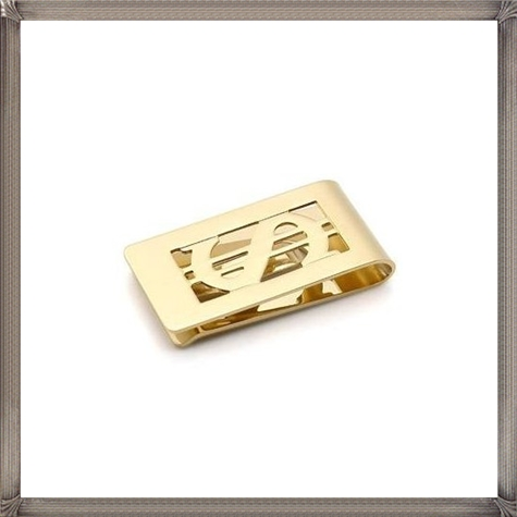 Money-Dollar-Sign-Brass-Gold-Money-clip The 25 Most Popular Gold Money Clip Designs