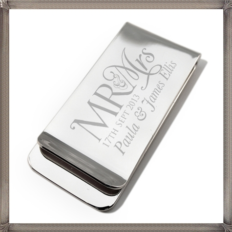 Mr-and-Mrs-Wedding-Monogram-Silver-Plated-Money-Clip The 15 Most Popular Sterling Silver Money Clips for 2019