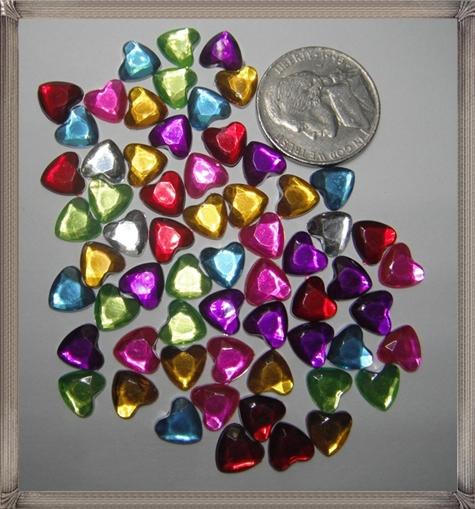 Multi-Color-Rainbow-Heart-Shaped-Flat-Back-Rhinestones-Loose-Gems Steps To Take When Buying Loose Gemstones