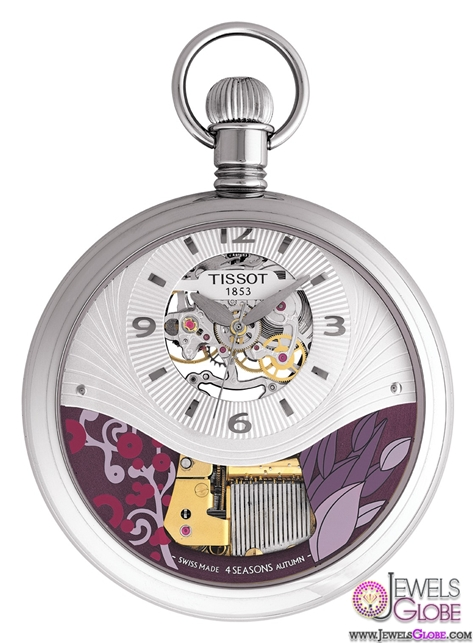 Musical-seasons-Autumn-Mens-Mechanical-White-watch Latest pocket watches for men (HOT Styles)