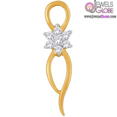 Nakshatra-18-K-Gold-Pendant-Simple-and-sober The 29 Most Popular Gold Pendant Designs For Women