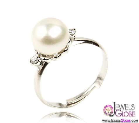Natural-Pearl-Platinum-Plating-925-Silver-Ring-for-Sale Top Pearl Rings For Sale