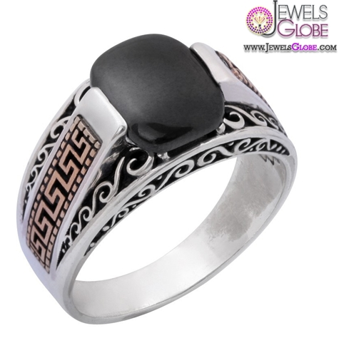 Ottoman-EmblemSignature-of-Sultan-and-Turkey-Flag-Sterling-Silver-Men-Ring 19 Awesome Mens Sterling Silver Rings