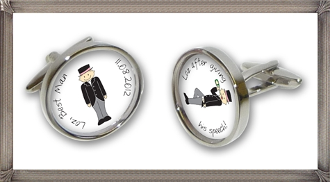 PERSONALISED-Best-Man-and-Worst-Man-wedding-cufflinks personalised cufflinks for men
