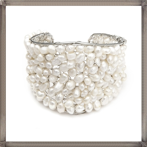 Penelope-Pearl-Bridal-Cuff-Bracelet-Pearl-Wedding-Bracelet The 28 Most Amazing Pearl Bracelets For Brides 2019 - Tips For Choosing