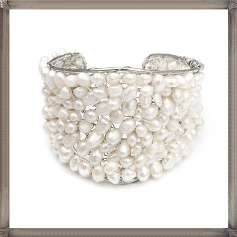 Penelope-Pearl-Bridal-Cuff-Bracelet-Pearl-Wedding-Bracelet 28+ Most Amazing Pearl Bracelets For Brides in 2020