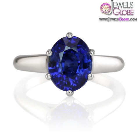 Perfect-Engagement-–-Natural-Oval-Blue-Sapphire-Ring Top 21 Blue Sapphire Engagement Rings Designs