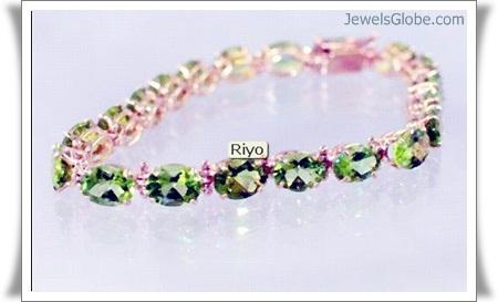 Peridot-Gold-Gemstone-Bracelet-Diamond 18 Best Gold Gemstone Bracelets Designs