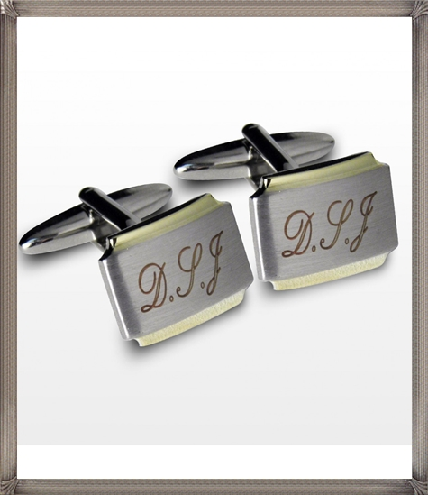 Personalised-Cufflinks-Gold-Plated personalised cufflinks for men