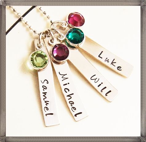 Personalized-Name-Necklace-Mommy-Grandma-Jewelry-Kids 16 STYLISH and Attractive Kids Jewelry Designs