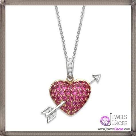 Pink-sapphire-and-diamond-heart-pendant The 28 Best Diamond Heart Necklaces & Pendants For Women and Buying TIPS