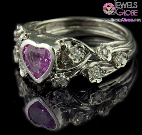 Pink-sapphire-organic-ring The Most Stylish Gemstone Engagement Rings