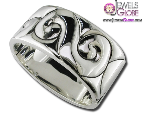 Plain-Silver-Cuffs-Stylish-and-trendy-sterling-silver-cuff-bracelets-for-women 35 Hot Cuff Bracelets For Women