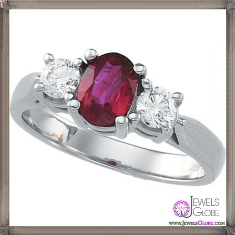 Platnium-Genuine-Ruby-Ring 32+ Most Elegant Genuine Ruby Rings For Women