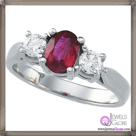 Platnium-Genuine-Ruby-Ring 32+ Most Elegant Genuine Ruby Rings For Women