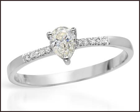 Precious-Stones-Genuine-Clean-Diamonds-Beautifully-Designed-in-14K-White-Gold 14K White Gold Engagement Rings: Top Designs