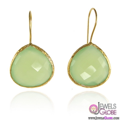 Precious-drop-earrings-on-almond-shape The 43 Hottest Gemstone Drop And Stud Earrings Designs for Women