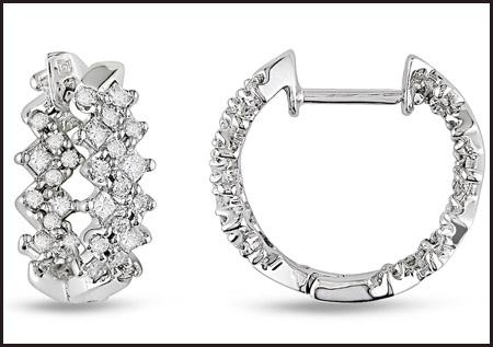 Princess-Cut-Diamond-18K-White-Gold-Hoop-Earrings Princess Cut Diamond Hoop Earrings: Styles You Should See