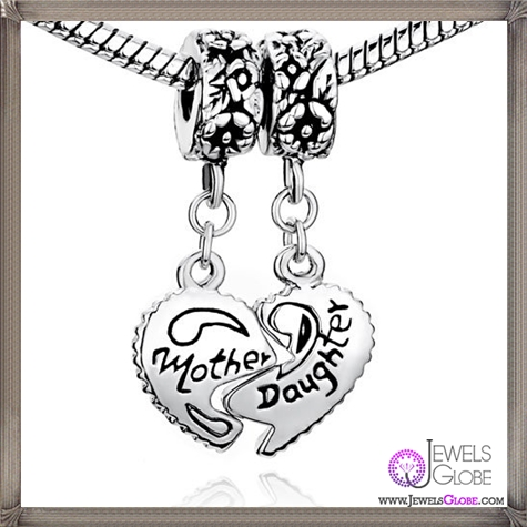 Pugster-Heart-Mother-Daughter-Beads-Fit-Pandora-Chamilia-Biagi-Charm-Bracelet Pandora Jewelry and Its Top Stores