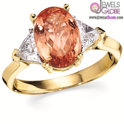 Red-colored-gemstone-engagement-rings-in-Yellow-Gold The Most Stylish Gemstone Engagement Rings