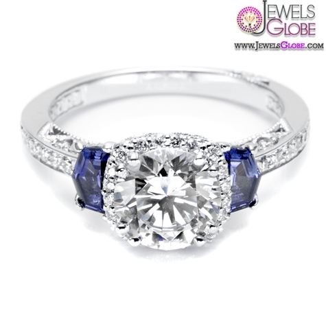 Regal-blue-sapphire-side-stones-symbolize-loyalty-and-fidelity Top 21 Blue Sapphire Engagement Rings Designs