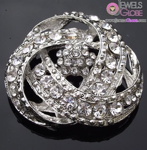 Rhinestone-Crystal-Art-Deco-Style-Bridal-Brooch The 11 Best Designs of Rhinestone Brooches for Women