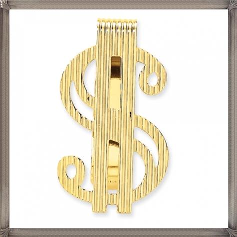 Ridged-Dollar-Shaped-Gold-Money-Clip The 25 Most Popular Gold Money Clip Designs