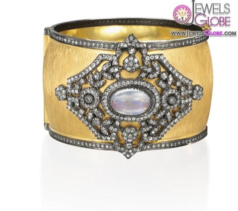 RinaLimor-18k-gold-wide-cuff-bangle-women-bracelet 35 Hot Cuff Bracelets For Women