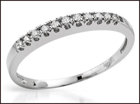 Ring-With-Genuine-Diamonds-Beautifully-Designed-in-14K-White-Gold 14K White Gold Engagement Rings: Top Designs