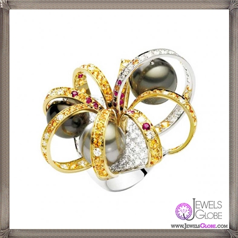 Ring-by-Roberto-Coin-Fire-ring-in-white-and-yellow-gold-with-diamonds 23 Best Roberto Coin Rings Designs