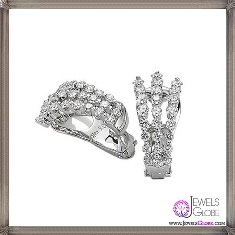 Roberto-Coin-Classica-Three-Row-Diamond-Earrings Best 18 Roberto Coin Earrings Designs