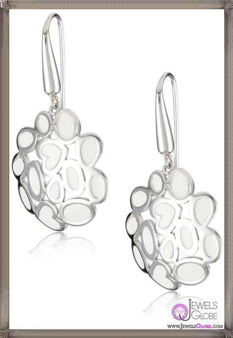 Roberto-Coin-Fifth-Season-White-Enamel-Silver-Mauresque-Earrings Best 18 Roberto Coin Earrings Designs
