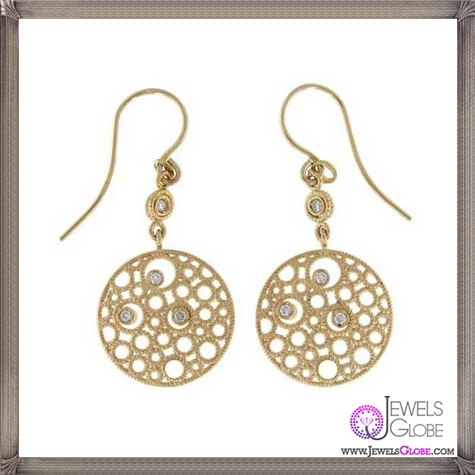 Roberto-Coin-Moresque-Yellow-Gold-Bubble-Diamond-Earrings Best 18 Roberto Coin Earrings Designs