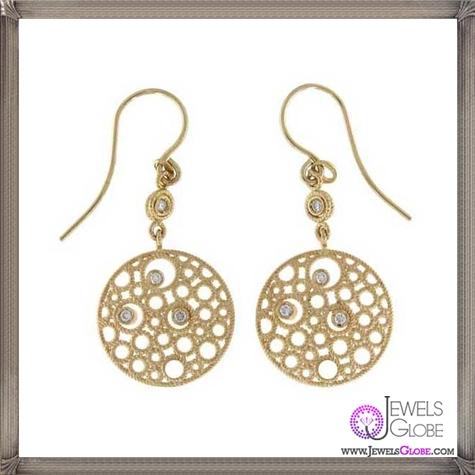 Roberto-Coin-Moresque-Yellow-Gold-Bubble-Diamond-Earrings Best 18 Roberto Coin Earrings Designs