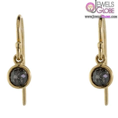 Rose-Cut-Black-Diamond-Earrings Latest Fashion Black Diamond Earrings For Women