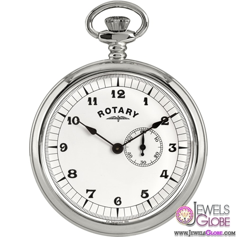 Rotary-Gents-Stainless-Steel-Mechanical-Pocket-Watch-Men Latest pocket watches for men (HOT Styles)