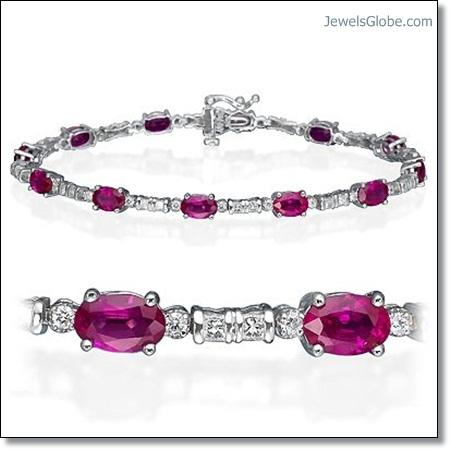 Ruby-Bracelet-with-White-Diamond The 16 Top Ruby Tennis Bracelet Designs
