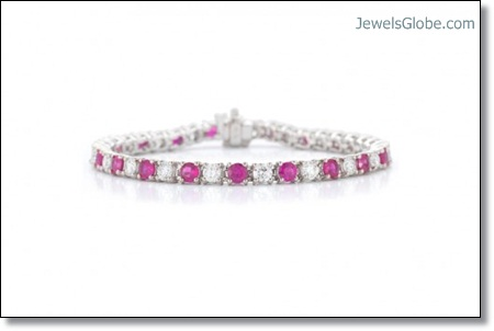 Ruby-Diamond-Tennis-Bracelet-women-design The 16 Top Ruby Tennis Bracelet Designs