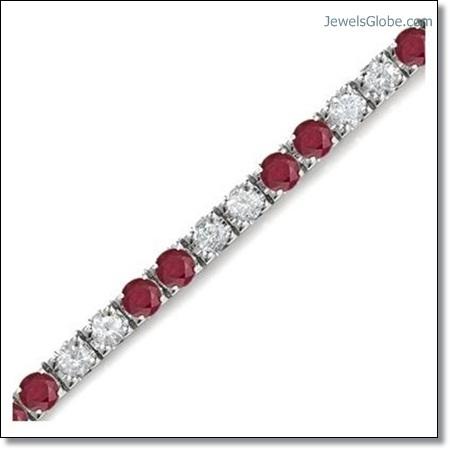 Ruby-Diamond-Tennis-Bracelet The 16 Top Ruby Tennis Bracelet Designs