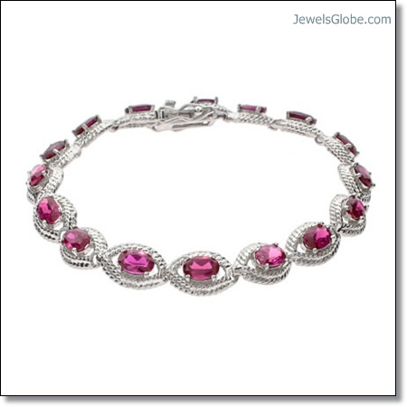 Ruby-Tennis-Bracelet-with-sterling-silver The 16 Top Ruby Tennis Bracelet Designs