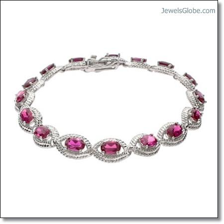 Ruby-Tennis-Bracelet-with-sterling-silver The 16 Top Ruby Tennis Bracelet Designs