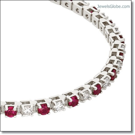 Ruby-and-Diamond-Tennis-Bracelet The 16 Top Ruby Tennis Bracelet Designs