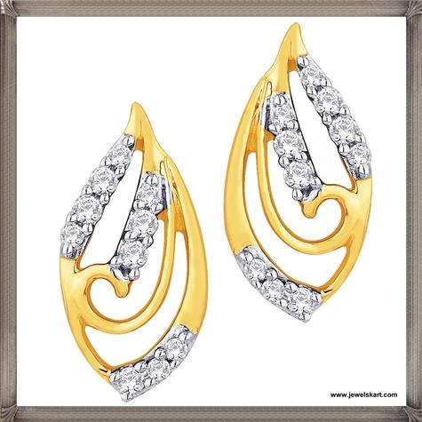 Sangini-18-K-Gold-Womens-lovely-pair-of-earrings Latest Gold Earrings Designs 2019
