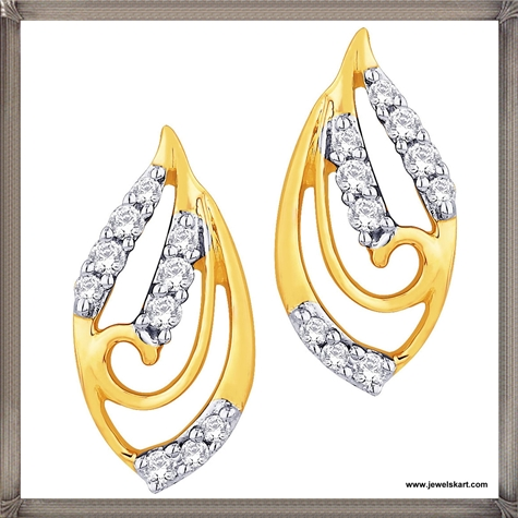Sangini-18-K-Gold-Womens-lovely-pair-of-earrings Latest Gold Earrings Designs 2019