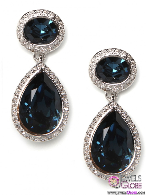 Sapphire-Sparkle-Drop-Earrings The 43 Hottest Gemstone Drop And Stud Earrings Designs for Women