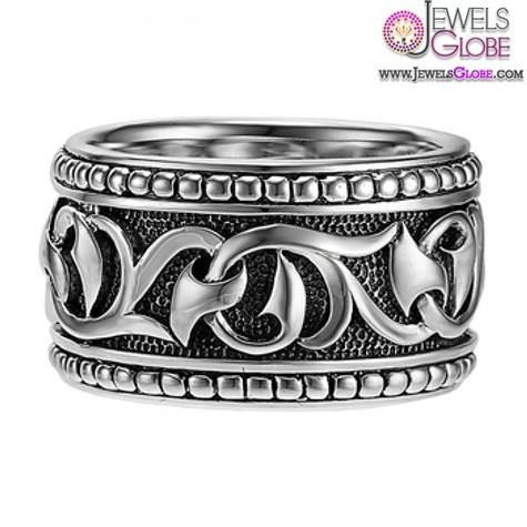 Scott-Kay-Mens-Sterling-Silver-Gothic-Ring-with-Sparta-Engraving 19 Awesome Mens Sterling Silver Rings