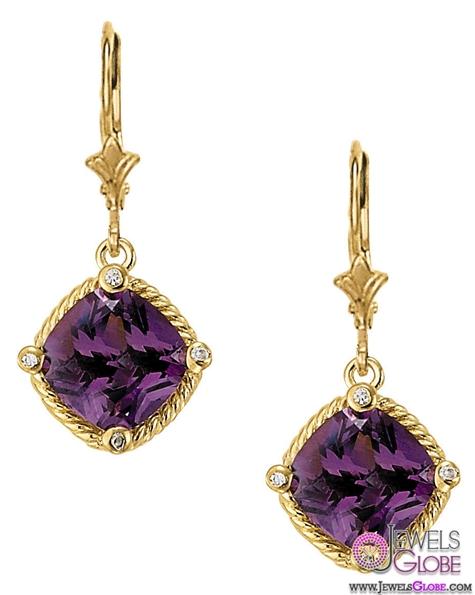 Semi-Mount-Diamond-Drop-Earrings The 43 Hottest Gemstone Drop And Stud Earrings Designs for Women
