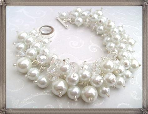 Set-of-5-Pearl-Bracelets-Bridal-Bracelet-Bridal-Jewelry 16 STYLISH and Attractive Kids Jewelry Designs